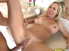 Bathroom, Bathroom, Beauty, Blonde, Blowjob, Cougar