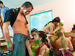 Body paint and banging at party tube porn video