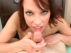 Nicki Hunter redhead blowjob and titjob