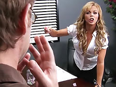 Making love to a horny blonde milf