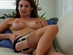 Polka dot dress and vintage stockings tube porn video