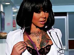 Johnny Sins nails tattooed nurse Julia Bond porn tube video