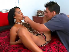 Married Latina cheats with hard cock