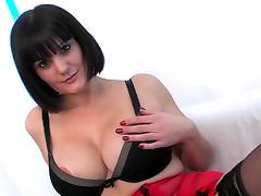 Sexy big tits on fucked milf slut