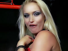Erotic sex and handjob with beautiful blonde