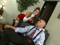 Big Breasted Pornstar Rachel Roxxx Fucking For a Facial and Tips