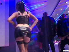 Ladies clad in sexy clothes dance naughty
