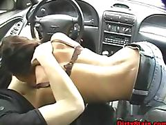 Brunette Teen Ex GF Loves Giving Blowjobs and Getting Fucked In Cars