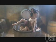 Wine Making Lesbians Joined By The Winery's Owner In FFM Threesome porn tube video
