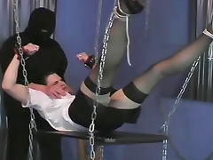 College chick bondaged with chains and tortured