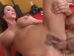 Brunette MILF Ariella Ferrera Fucking The Instructor's Big Dick