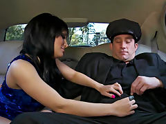 Billy Glide bangs Gabriella Paltrova in the back seat tube porn video