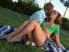 Gorgeous Anal Redhead Ashli Orion Gets Interracially Fucked Outdoors tube porn video