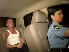 Office, Big Tits, Blowjob, Brunette, Cop, Dirty