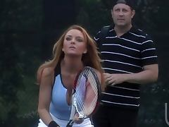 Outdoor Hardcore Scene With the Hot Janet Mason And Her Tennis Coach