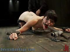 Brunette Gets Extremely Toyed in a Wild BDSM Porn Clip