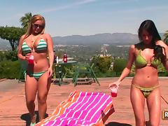 Pornstars Kortney Kane and Shyla Stylez Tanning Their Humongous Tits tube porn video