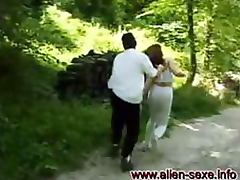 Horny Masked Dude Fucking a Helpless Girl in the Forest