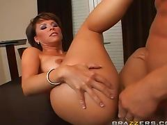 Big tits at work anal
