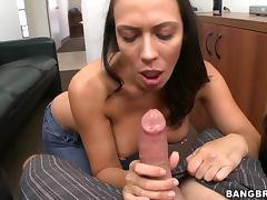 Slutty Secretary Sucks Her Boss' Hard Cock In The Office