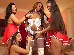 Black Lesbian, Black, Cumshot, Ebony, Group, Heels