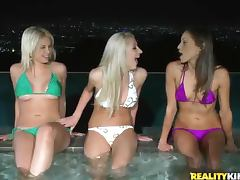 Hot tub babes in bikinis porn tube video