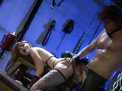 Submissive Redhead Marie Mccray Gets Facialized In Fishnet Lingerie tube porn video