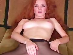 Heather Carolin black pantyhose are sexy