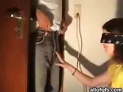 Horny Blindfolded Teen Blowjob
