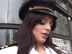 Slutty European Police Officer Angelika Black Enjoying an Anal Fuck