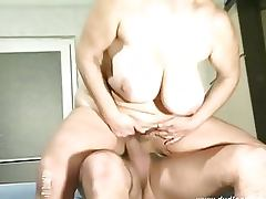 Hairy Granny Gets A Hardcore Fuck From A Big Cock
