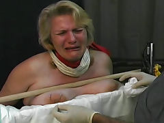 Fat girl cries during tit torture tube porn video