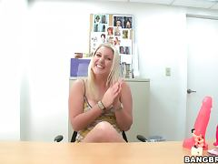Good Hardcore Fuck for Blonde Amateur in Casting Interview