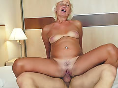 Kate Blonde with hairy cunt is satisfying her muscular macho porn tube video