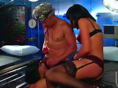 Scientist Fucks Brunettes Sarah Vandella and Shawna Lenee In Threesome tube porn video