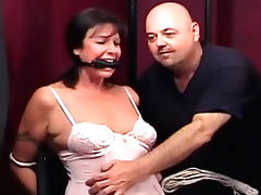 Two girls get bound gagged and drilled with toys