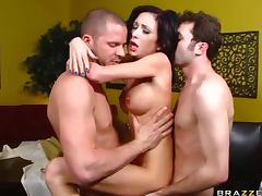 Petite Brunette Pornstar Hillary Scott Double Penetrated In Threesome tube porn video