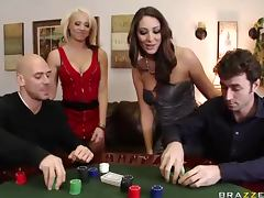 Poker Match Leads To a Swingers Foursome With Big Tits and Big Dicks porn tube video