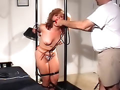Bound to the bed frame and abused