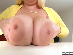 the Tiffany with the weirdest pari of hanging fat boobs