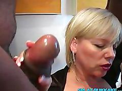 Slutty Blonde Getting All Her Holes Stuffed With Black Meat At The Same Time