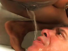 She pisses on him after facesitting tube porn video
