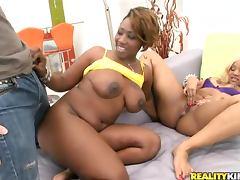 Big ass black women take on his cock