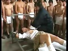 Asian Gets Bukkake and Creampie By Dozens Of Guys tube porn video