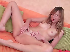 Hot skinny girl horny for masturbation