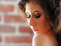 Beautiful solo brunette is glamorous