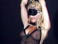 Hot blonde is totally wild for bondage tube porn video