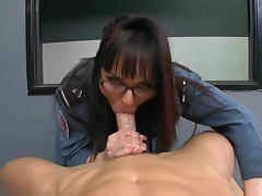 Cytherea uniform fuck in black boots