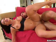Big Tits Brunette Babe Shaved Pussy Hardcore