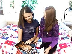 Naughty lesbian teens having